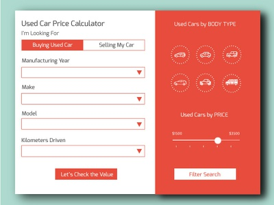 Used Car Price Calculator Designs Themes Templates And Downloadable Graphic Elements On Dribbble