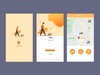 Mobile App Login Screen