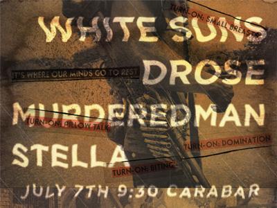 White Suns & Drose Flyer