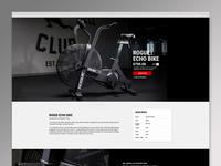 Echo Bike Webpage