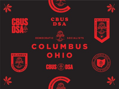 CBUS DSA Exploration lock up socialism identity dsa branding columbus type logo