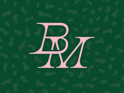 Wedding Mono letters mark identity savethedate wedding initial type logo