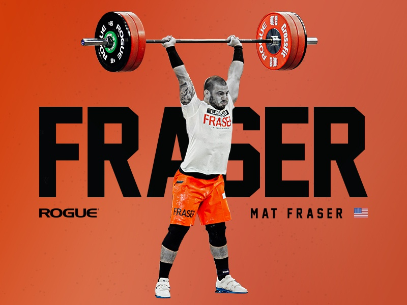 Tossed banner typography sports weightlifting crossfit rogue fitness athlete athletic