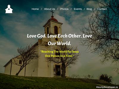 Church Website Development Company ui  ux ux logo branding ui website builder website development website developer website design church website