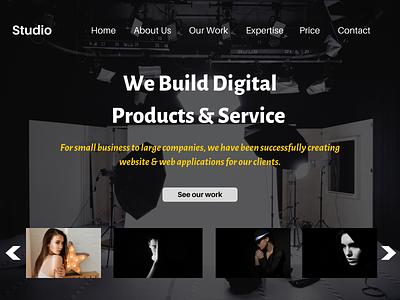 Studio Website Designing Company branding logo uxdesign uidesign ui  ux uiux ux ui design website designing