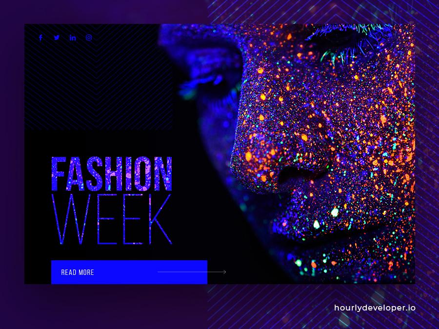 Glamorous Fashion Designer Website glamour animation fashion fashion app website web ui uiue logo app design illustration