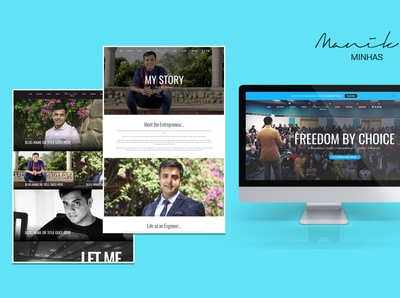 Blogging Website Mockups