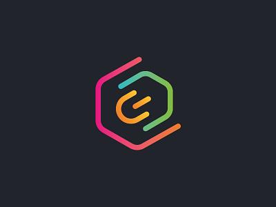 Efnium logomark branding logo logotype science simple colorful logomark