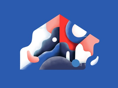 Assemblies illustrator paint blue and red abstract photoshop graphicdesign artwork illustration