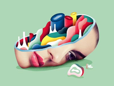 Broken portrait draw graphicdesign woman paint colorful abstract portrait photoshop artwork illustration