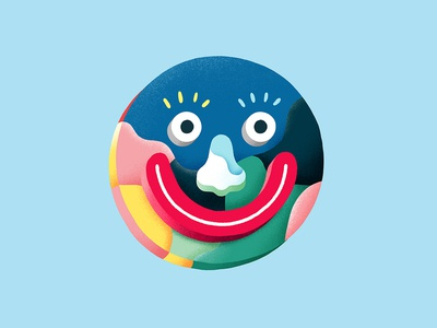 Happy Creepy Tuesday happy smiling eye blue artwork character concept character design graphicdesign illustration colorful color character smiley creepy smile