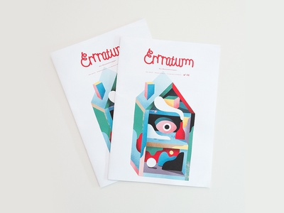 Cover illustration for Errratum Magazine paint print eye house color cover artwork photoshop graphicdesign magazine errratum cover illustration