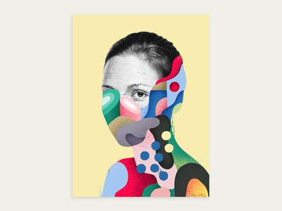 Oops, you have been infected by color. mixed design art eye draw print illustrator color colorful paint portrait woman abstract photoshop graphicdesign artwork illustration