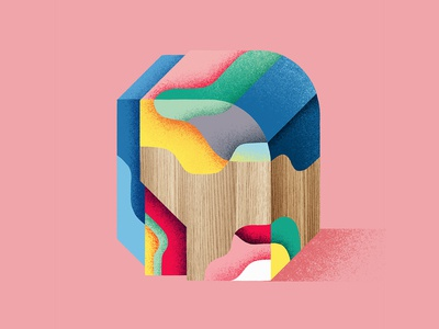 I will build a shelter with those bricks 3d texture wood block bricks draw print illustrator color colorful paint abstract photoshop graphicdesign artwork illustration
