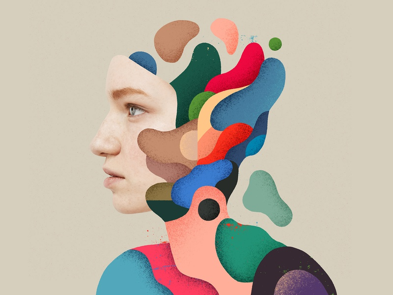 I told you not to eat those mushrooms. Look what you've done 🤦 infection illustrationdaily colourpalette abstracted colorart digitalpainting astropad portrait print illustrator color colorful paint abstract photoshop graphicdesign artwork illustration