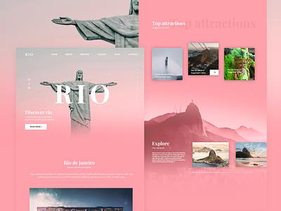 Rio Travel Agency agency travel minimal interface web design landingpage ux ui branding design
