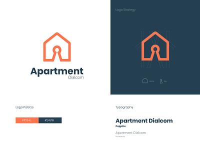 Apartment Logo identity ideas minimalist logo key logo smart residence negative space minimal icon house home creative branding apartment