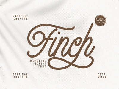 Finch Monoline Script Font script fonts lettering caligraphy product design logos product packaging advertisements handlettering typography branding