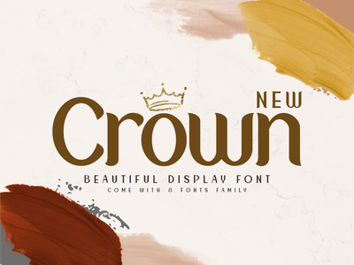New Crown logo lettering social media posts illustration product design logos product packaging advertisements typography branding
