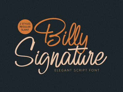 Billy Signature | Handwritten Script Font watermark script fonts product design handlettering social media posts logos product packaging typography branding advertisements