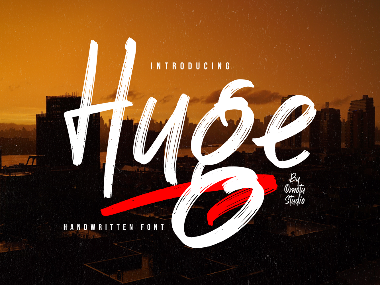 Huge - [FREE FONT] logo brand identity brush font social media posts apparel watermark product design product packaging logos advertisements lettering handlettering caligraphy typography branding
