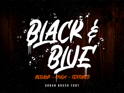Black & Blue (FREE FONT) flyers posters apparel logos product design product packaging social media posts logotype advertisements handlettering caligraphy typography branding