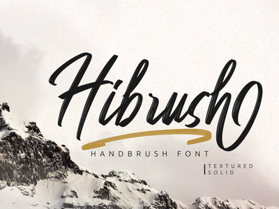 Hibrush - Handbrush Font (FREE FONT) watermark fonts script fonts social media posts product packaging product design advertisements handlettering typography branding