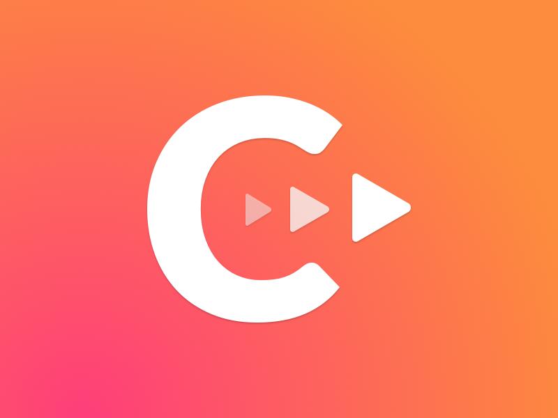Castee.fm gradient minimal app icon branding vector logo website design podcasting podcast
