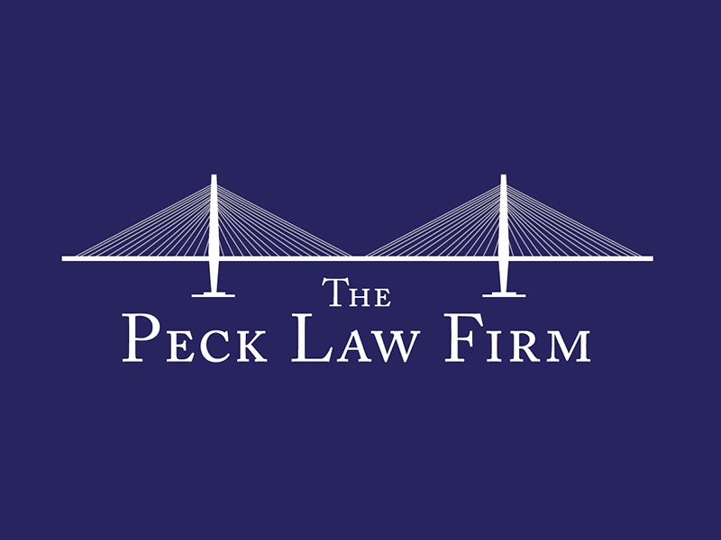 The Peck Law Firm Logo logo branding legal charleston south carolina bridge cooper river