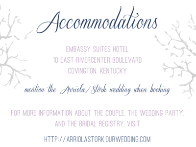 Trees Accommodations Card