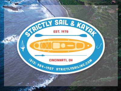 Strictly Sail & Kayak sticker design