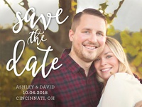 Ashley & David Save The Date