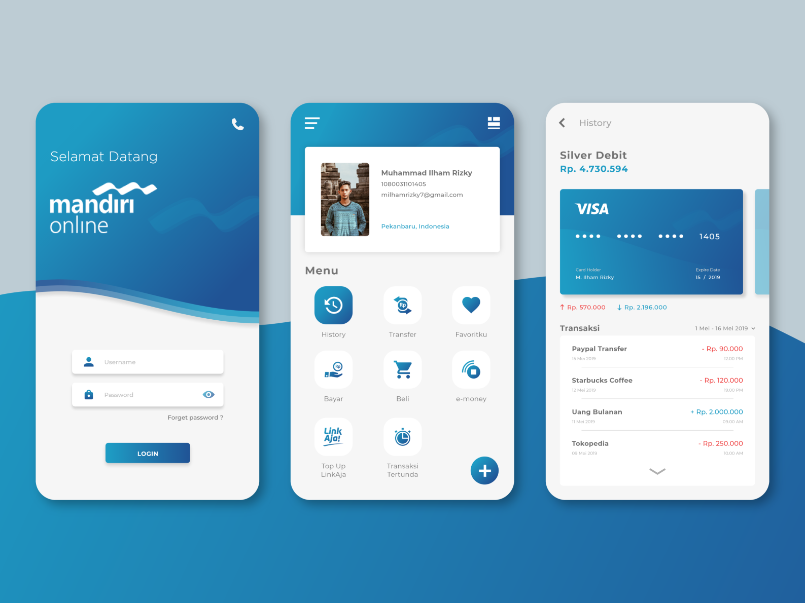 Redesign Ui Mandiri Online By Ilham Rizky On Dribbble