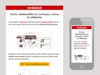 Versliukai.lt paid services newsletter