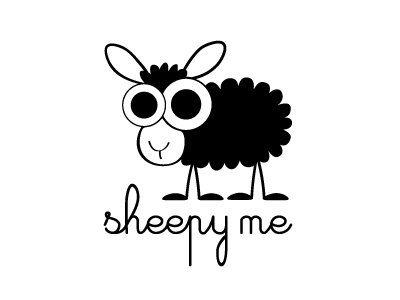Sheepy Me logo logo sheep black handwritten funny animal