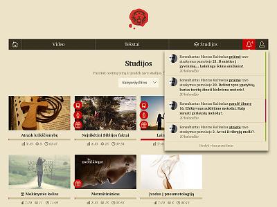 Geri Ženklai website css geri zenklai notifications thumbs religion church layout dropdown web design website web