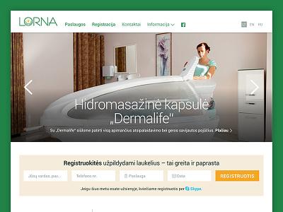 Lorna website lorna form menu grid green medicine slideshow layout web design website