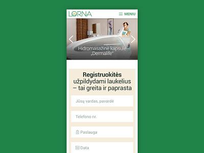 Lorna responsive website mobile responsive website web design layout slideshow medicine green grid menu form lorna