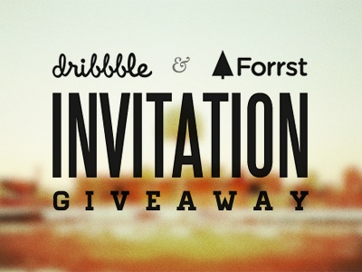 Dribbble forst invitation giveaway