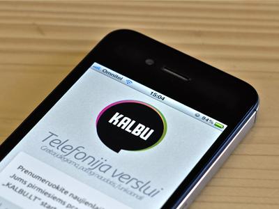 Kalbu lt logo and landing page