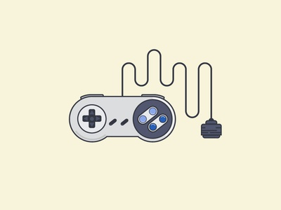 SNES Controller snes flat nintendo super nintendo fact: my favorite gaming system
