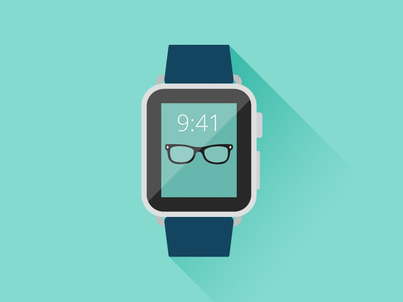 Apple Watch - Freebie apple watch ios freebie psd smart watch free psd flat illustrator vector illustration photoshop
