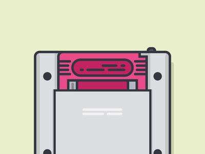 Game On gameboy flat retro 90s 1990s dribbble game on nintendo