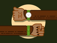 Halloween Werewolf Watch werewolf halloween arm watch vector illustration simple flat