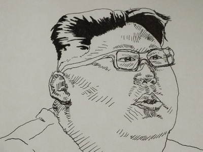 Kim Jong Un Sketch during Dungeons and Dragons ink and north korea sketching during dd sketch kim jong un