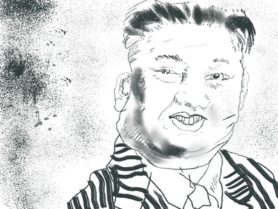 Kim Jong Un Charcoal Sketch beetlejuice experiment kyles dry media brushes north korea kim jong un quick sketch