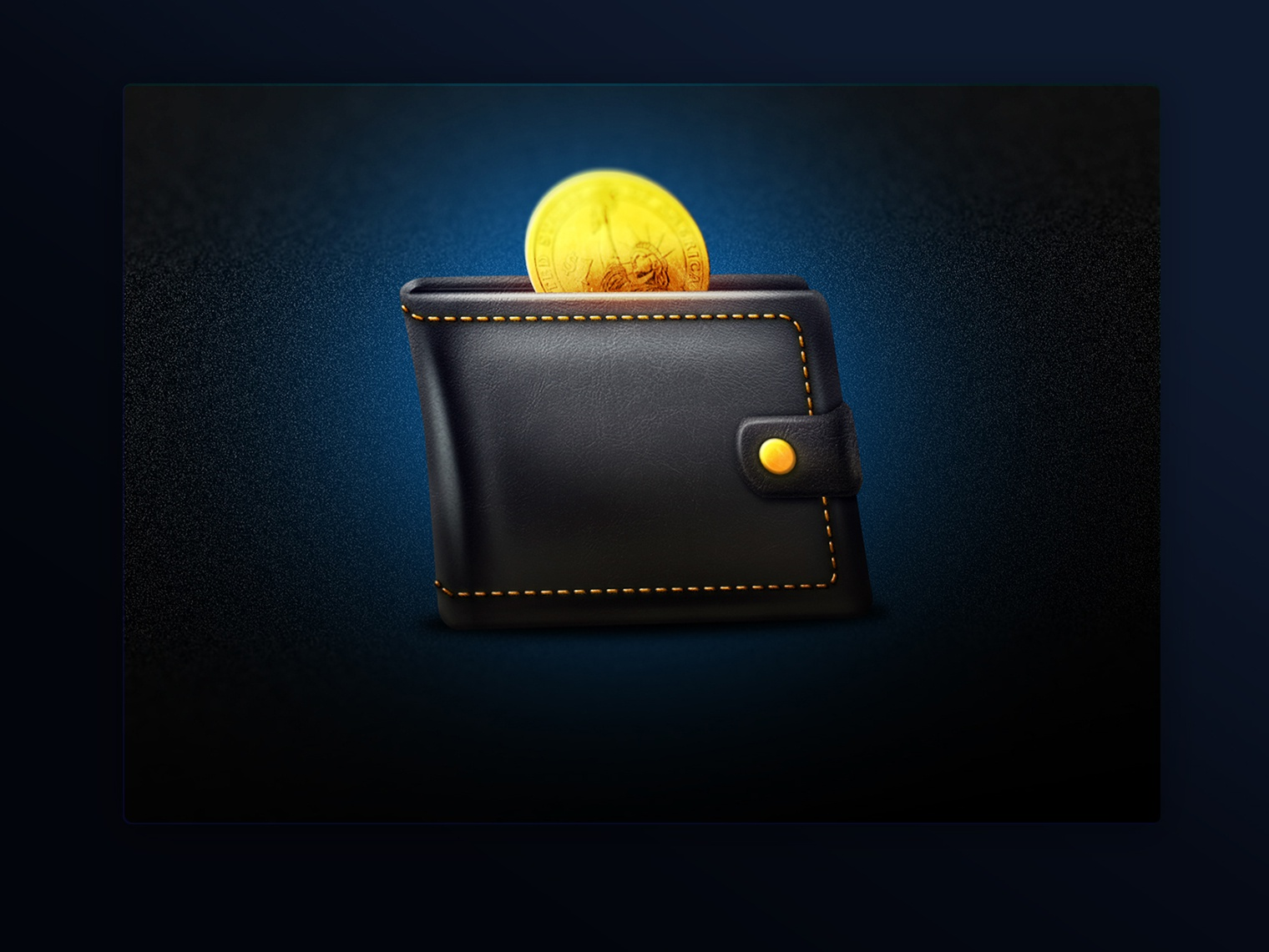 Wallet icon leather dollar wallet design icon photoshop 2d artist 2d art illustration