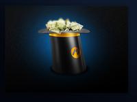 Money hat icon