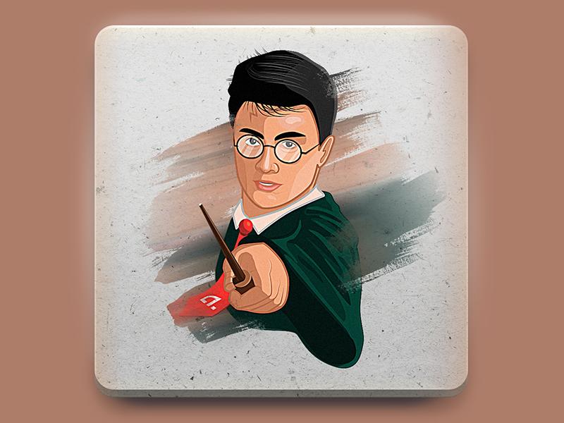 Harry Potter sticker illustration branding drawing art photoshop vector sticker design sticker character design character 2d artist design 2d art illustration
