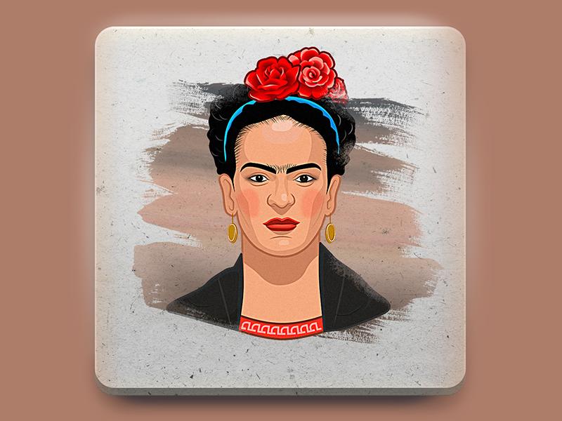 Frida sticker illustration branding art character design portrait character sticker design sticker drawing vector photoshop 2d artist design 2d art illustration
